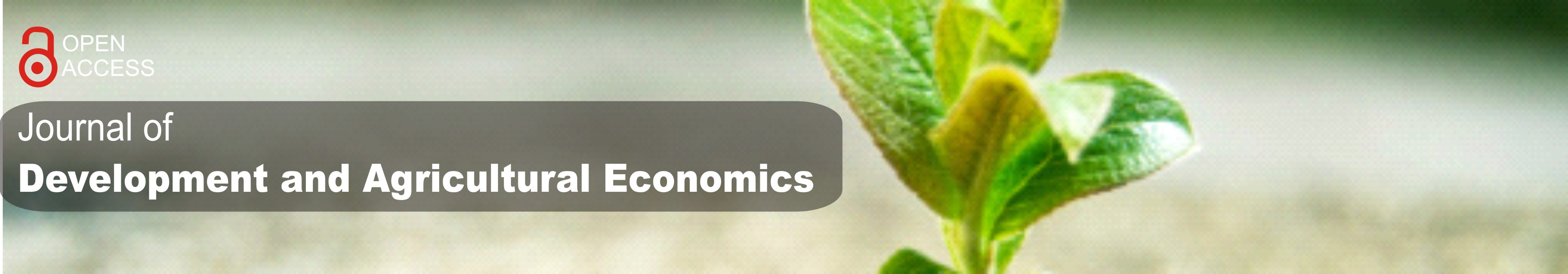 Journal of Development and Agricultural Economics