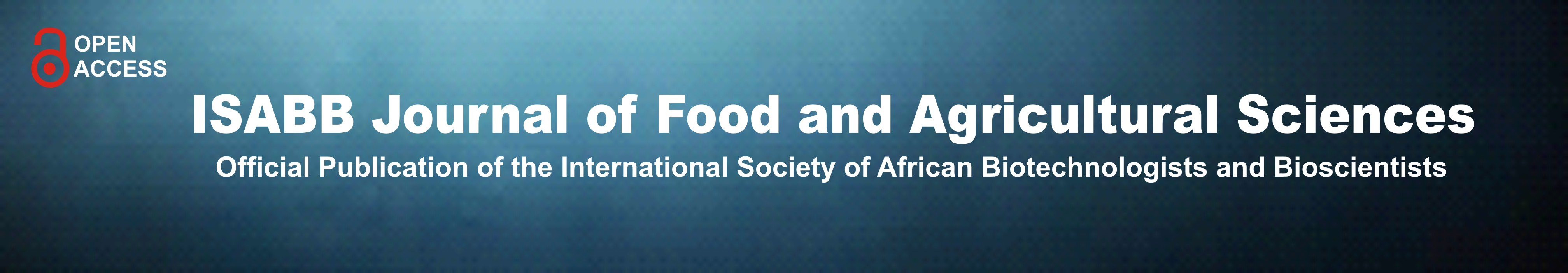 ISABB Journal of Food and Agricultural Sciences