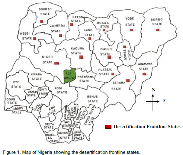 These States Accounts For About 63 83 Of The Total Land Area Of Nigeria With Moderate To Severe Rate Of Desertification And About 62 Million Of Nigerians